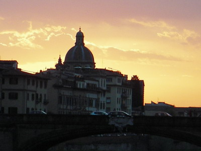 "Sunset from the ""Old Bridge,"" Florence, Italy"