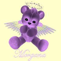 adorable light purple angel bear