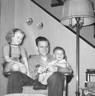 Me, Dad and brother Bill in 1957