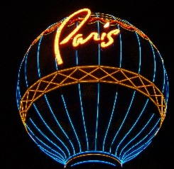 Nighttime on the famed Las Vegas Strip.