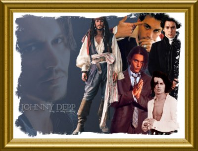 A neat gift from Creative Pen of Johnny Depp's Portrait picture of his movies.