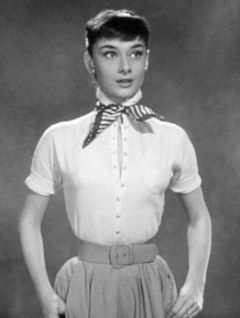 Picture of young Audrey Hepburn.