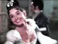 Color picture of Audrey in War and Peace.