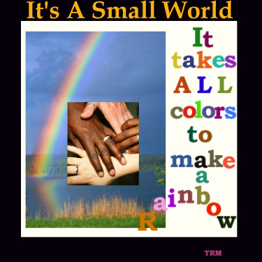 Rainbow sig for It's A Small World by Tammy