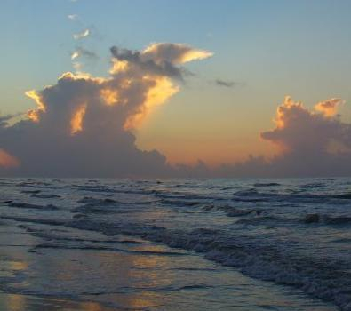 Sunrise on Surfside Beach, Texas