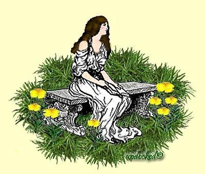 Lady In A Garden Sig