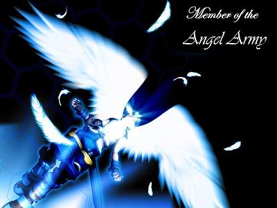 Image of a bright angel create for the Angel Army