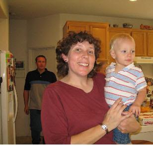 Steph & Joseph on his birthday, Sep 2007