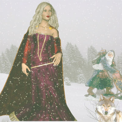 Beautiful Poser by Angel of a Princess, Santa and wolf.