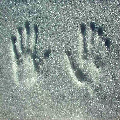 imprints in white