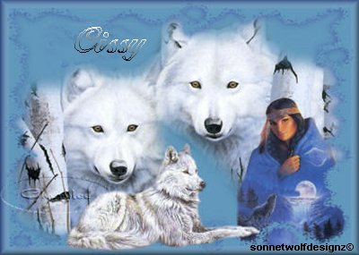 Sig. My Indian totem, the White wolf
