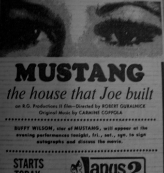 A newspaper clipping using the poster.