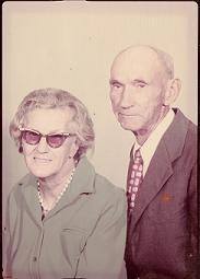 Photo of Grandma and Grandpa Newland