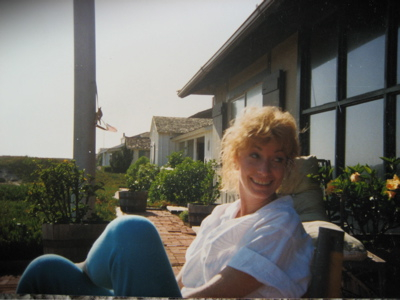 Sitting outside in Carpinteria, CA.