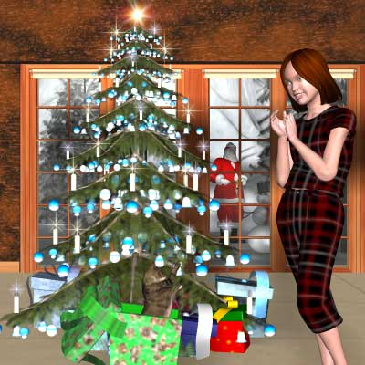 Beautiful Christmas Poser of me as a young girl at Christmas by Angel. .