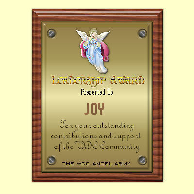 Thank you Angel Army and Kiya for this lovely plaque