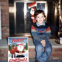Jeffrey, age 4, Christmas 1985.