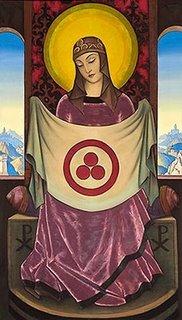 Nicholas Roehrich's Madonna Oriflamma
