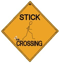 Stick Crossing Sign