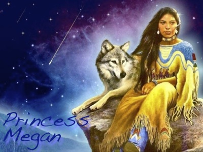 A neat NA Woman and wolf image by forsaken.