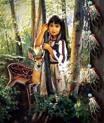NA child and deer by Summerlyn.