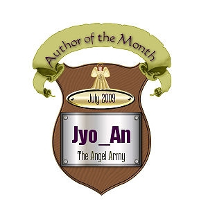 My Author of the month award from the Angel Army, thanks Kiya!