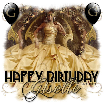 A banner for Giselle's birthday celebration forum.
