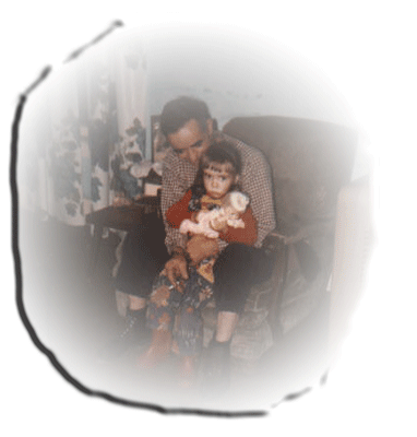 An old photo of my father and me.