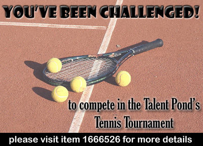 Image for challenge cNote for the Talent Pond Tennis Tournament