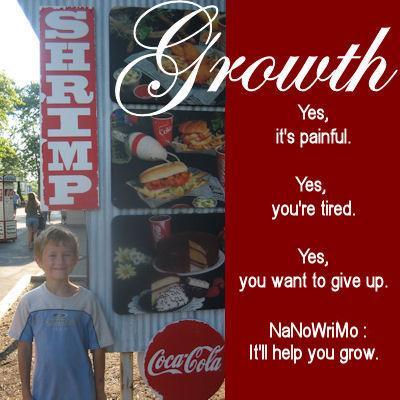 Growth: A (de)Motivational cNote for NaNoWriMo participants.