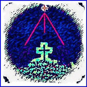 Digital image of a cross and star.