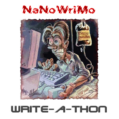 Banner for the 2010 NaNoWriMo Write-A-Thon.