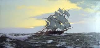 A ship is rough seas.