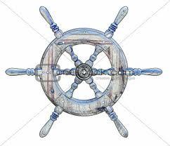 A ship's wheel.
