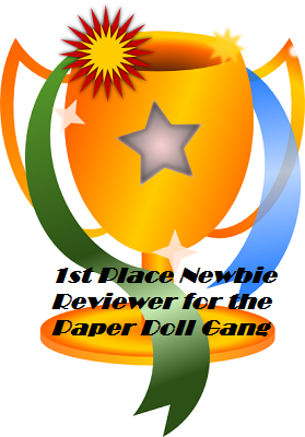 My trophy for winning December reviewer of the month!
