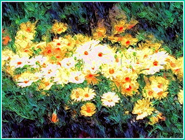 Digital painting of flowers
