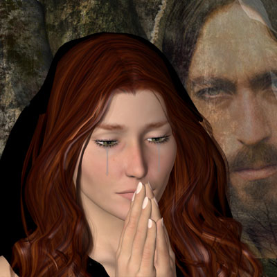 Beautiful Mary Magdalene and Jesus Poser by best friend Angel