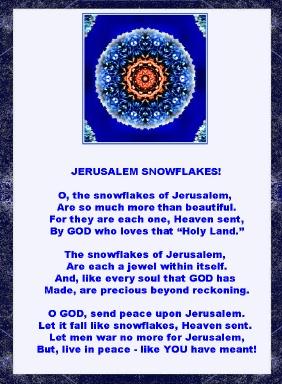 Poem and image about Jerusalem