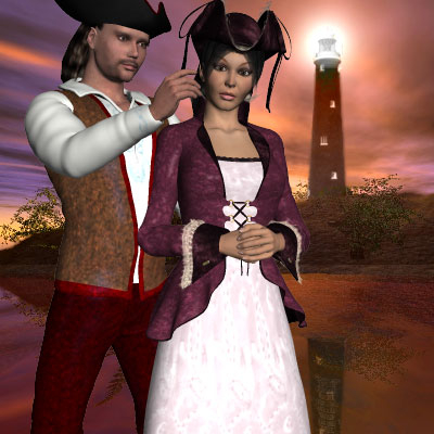 Beautiful Poser of pirate and his lady by best friend Angel.