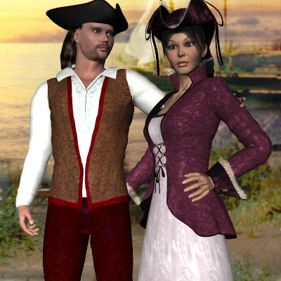 Beautiful Poser of pirate couple for my pirate story by best friend Angel.