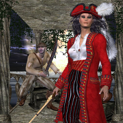 Another pretty pirate woman Poser by Angel.