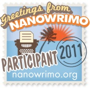 Participant image for NaNo 2011 from www.nanowrimo.org.