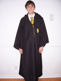 This is Jeff Nichols dressed in Hogwarts robes. It was taken when Book 7 was released?