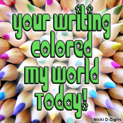 When a piece of writing makes you see things in vivid colour.