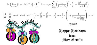 Happy Holidays in Mathematics