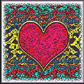 Digital Image of a red heart