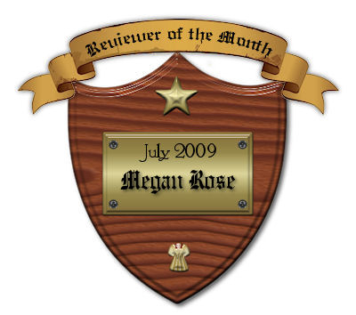 My Plaque from Kiyasama for being July Angel Army Reviewer Of The Month.