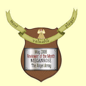 Plaque for being May Angel Army Reviewer Of The Month.