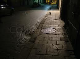 A dark street image used in my story, A Proposition for Elaina.
