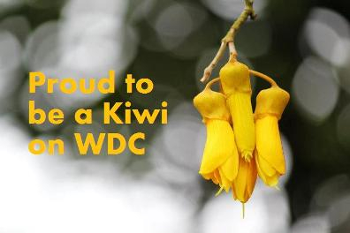 Proud to be a Kiwi on WDC!
